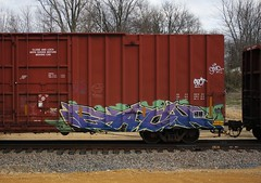Each (quiet-silence) Tags: railroad art train graffiti railcar boxcar graff freight each tr fr8 tr19326