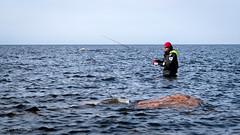 Piece of mind (Sami Lnsipaltta) Tags: ocean sea suomi finland fishing piece selfie pyhranta reila mzuikodigital45mm118 olympusomd oishare kyhkrnnokka