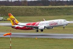 Air India Express VT-GHA 737 (Paul Rowbotham) Tags: canon birmingham flight 7d boeing runway 737 windsock 737800 bhx 738 airindiaexpress vtgha