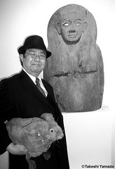 Dr. Takeshi Yamada and Seara (Coney Island Sea Rabbit) at the Chelsea art gallery district in Manhattan, New York on May 12, 2015.  20150512 012=CBW. Egyptian art. (searabbits23) Tags: ny newyork sexy celebrity rabbit art hat fashion animal brooklyn asian coneyisland japanese star tv google chelsea king artist gallery dragon god manhattan famous gothic goth uma ufo pop taxidermy vogue cnn tuxedo bikini tophat unitednations playboy entertainer oddities genius mermaid amc mardigras salvadordali performer unicorn billclinton seamonster billgates aol vangogh curiosities sideshow jeffkoons globalwarming mart magician takashimurakami pablopicasso steampunk damienhirst cryptozoology freakshow seara immortalized takeshiyamada roguetaxidermy searabbit barrackobama ladygaga climategate  manwithrabbit