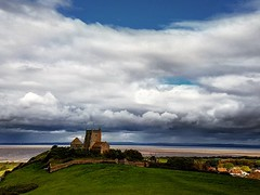 The Old Church of St Nicholas facing up to another storm on the horizon (minhosa27) Tags: sky storm church skyline clouds view horizon