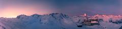 the sun rising behind Monte Rosa (iSteven-ch) Tags: morning panorama mountain snow alps berg sunrise schweiz switzerland twilight suisse panoramic glacier gornergrat zermatt monterosa matterhorn sonnenaufgang wallis dentblanche castor pollux cervin weisshorn nordend breithorn dufourspitze zinalrothorn trifthorn grenzgletscher lyskamm kulmhotel wellenkuppe wandfluh gabelhorn lesjumeaux lysjoch arbenhorn puntamargherita breithornzwillinge felikjoch 3100kulmhotelgornergrat furgghorn theodulhorn infinitexposure roccianero tteblanche