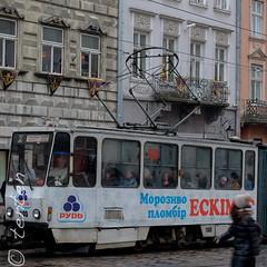 Lviv tram (Carsten Bartmann) Tags: europa europe lviv ukraine lvov easteurope ukraina ukrajina  ucraina lemberg   lwow ucrnia ukrayna ucrana welwowie