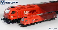 E4000_N_Takargo (Grupo Avaliare Engenharia) Tags: scale model euro n trains 4000 sudexpress 1160 vossloh