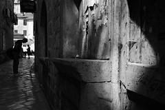 un inchino - a bow (francesco melchionda) Tags: street light blackwhite doors shadows silohuette kotor