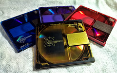"""Doing some """"mixtapes"""" (Diego3336) Tags: old music vintage md technology tech song sony oldschool mixtape disk sound laser tune disc blacksabbath miamivice minidisc cartridge"""