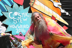 Cosmic Stew How Weird 2016, Dancing Hippy (shaire productions) Tags: sf sanfrancisco street old portrait people urban man guy sign festival beard happy photography photo dance costume rainbow dancing image decorative candid stage decoration picture hippy fair event photograph haightashbury signage faire decor howweird howweirdstreetfaire