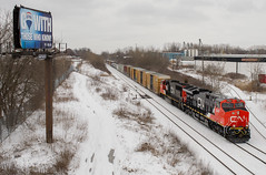 Fresh Snow and Fresh Paint (Joseph Bishop) Tags: new railroad snow cn train paint track tracks rail railway trains rails ge railfan brantford tier4 masseys gevo 3049 cndundassubdivision et44ac