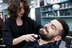 _T8A6562bd (labarbiredeparis) Tags: paris france art face sarah hair beard goatee moustache barbershop beaut barber salon innovation coiffeur barbe soin 1er extensions barbu coiffure capelli excellence masculin cheveux rasoir rasage 9e taille rase barbier shampooing condorcet coupechou barbiere coiffe bouc ras esthtique bertin pilation facehair poire barbire labarbiredeparis danielhamizi
