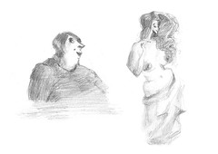 (nadiadubijansky) Tags: pencil women faces humor figure figuredrawing characterdesign israelart israelillustration