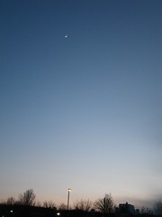 SLIVER OF MOON (photodittmer) Tags: sunset moon evening pentax clear gloaming