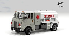 ubr A80 (Total Fuel Truck) (lego911) Tags: auto classic truck model lego diesel render poland polish gas 1960s petrol total a80 tanker fuel cad 1960 povray moc ldd zubr miniland ubr foitsop lego911