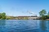 N&W 611 Crossing the Dan River Bridge (Nolan Majcher) Tags: j virginia nw ns norfolk class steam southern danville va western and locomotive 611