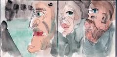 hatten Sie ber ihn gesprochen und womglich die Nase germpft, als er nicht hingesehen hatte (raumoberbayern) Tags: summer bus pencil subway munich mnchen sketch drawing sommer tram sketchbook heat ubahn draw bleistift robbbilder skizzenbuch zeichung