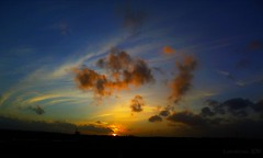 a sunset like a silk painting (lunaryuna) Tags: travel sunset sky sun beauty clouds dawn colours sundown ngc journey lunaryuna ontheroad cloudscape settingsun cloudpainting