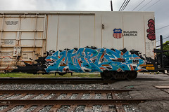 (o texano) Tags: bench graffiti maple texas houston trains tci freights benching