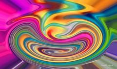 Eingedrckt.. (cornelia_auguste) Tags: kunst digitale filter digiart arbeit farben verwischt farbenrausch bunte filterexperiment filtertechnik digite regenbogemfarben