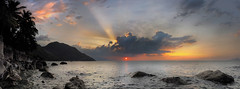 _4040154 Panorama (Concert Photography and more) Tags: sunset panorama white beach horizontal clouds landscape photo outdoor dusk philippines april cloudscape merge puertogalera reefs mindoro settingsun 2016 whtebeach