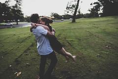 back together (Phredla) Tags: park happy jump couple run gritty swing d7200 phredla
