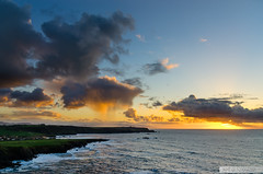 Chubascos (Jaime GF) Tags: sunset sea costa seascape rain clouds atardecer coast mar lluvia spain nikon asturias paisaje nubes ferrero gozn landscapa d7000
