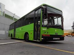 titsa_3607 (Dani_riderC35A) Tags: street bus green coach garage tenerife depot parked interurban vanhool titsa