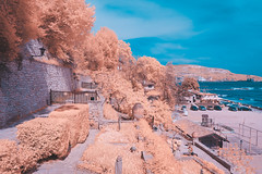 Queen Mary`s Castle @ Balcik (Alex Carbune) Tags: castle alex d50 landscape ir nikon maria mary queen bulgaria converted regina 1855 castel dx balchik tiffen balcic balcik irconverted carbune alexcarbune