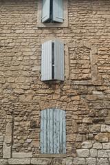 20160423 Provence, France 02567 (R H Kamen) Tags: france wall architecture shutters buildingexterior provencealpesctedazur stonematerial rhkamen