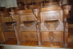 Downside Abbey - The Abbey of St Gregory the Great at Downside, Somerset (Glass Angel) Tags: somerset woodcarving choirstalls misericords downsideabbey