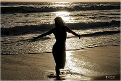 (npphotog) Tags: sunset losangeles manhattanbeach sihouettes followthelight beachshoot southbaybeaches