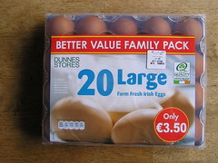 Dunnes Stores Better Value 20 Large hen Eggs 21052016 3.50 01-05-2016 - Tray 1 (Lord Inquisitor) Tags: brown eggs hen dunnes eggcarton eggbox heneggs 21052016