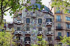 Casa Batllo - Barcelona (Damien ) Tags: barcelona trees casa gaudi barcelone batllo