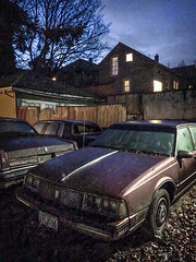 Olds Eighty Eight (edwham) Tags: urban abandoned night portland nightscape earlymorning portlandia americana pdx rusting 1970s 88 nocturne olds relic keepportlandweird iphone6