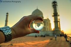 Taj Mahal just after 6am to catch the sunrise (Rushy9495) Tags: india sunrise ball taj tajmahal agra crystalball