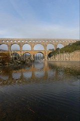 40080182 (wolfgangkaehler) Tags: bridge france water french europe european roman bridges unescoworldheritagesite aqueduct nimes pontdugard aqueducts southernfrance 2016 1stcenturyad gardonriver garddepartment