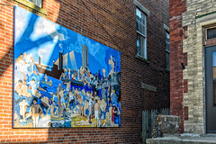 """Riverfront No.1"" in Olde Towne East (brianlrodgers) Tags: columbus ohio art public mural rogerwilliams thetavern oldetowneeast georgewesleybellows riverfrontno1"
