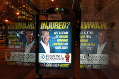 injured? (Ian Muttoo) Tags: toronto ontario canada reflection reflections gimp injured diamonddiamond personalinjurylawyers 20160108183712edit