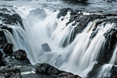 The iconic falls (ethereal.aurora) Tags: india nature falls waterfalls slowshutter karnataka tamilnadu indiawaterfalls hokenakkal