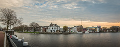 City view of Delft (RuudMorijn-NL) Tags: street old city travel autumn sky urban panorama house holland reflection building tree history fall tourism home monument water netherlands beautiful dutch architecture river landscape boot town canal ancient europe european cityscape exterior waterfront view place outdoor traditional herfst scenic culture landmark center scene delft panoramic historic historical townscape residential wit bewolkt hemel wal architectuur kleurrijk zuidholland platbodem historisch najaar oever southholland waterkant bewolking stadsgezicht zuidwal stadsbeeld panoramisch scheepmakerij zuidkolk hertoggovertkade pkahuis
