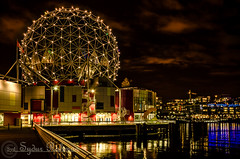 Science World-Vancouver (Syd Rahman) Tags: new travel light canada night vancouver lights lowlight nikon bc iso falsecreek rahman dslr today scienceworld followme sydur brithishcolumbia d7000 nikond7000 sydurrahman