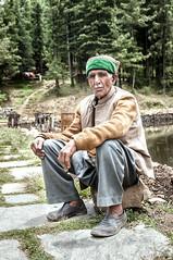 A Himachali Man with a Kinnauri Topi. (Anoop Negi) Tags: travel portrait india lake man apple cherry photography photo cap anoop kulu kullu topi negi overseer narkanda kotgarh tanni tibba ezee123 naag jubber thanedhar