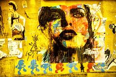 Paris Street Art Wall (Sbastien Turpin Photography) Tags: street blue boy red paris france streets color cute sexy art robert ass colors girl up look yellow wall kids jaune canon children french rouge nose eos kid cool rainbow frankreich sticker pin butte kunst tag femme badass kinder bleu gelb 7d bimbo cul mm graff drama rue mur nez arrondissement fille aux jm efs cailles parisian vie regard paris13 artiste pochoir kiddos 1755 parisienne sth xiii madchen schtroumpf franaise multicolore culte schtroumpfs efs1755