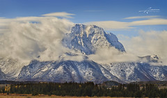Grand Teton National Park (Albert Photo) Tags: sky usa cloud mountain snow mountains landscape woods outdoor rockymountains grandtetonnationalpark