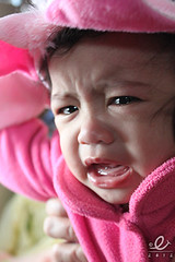 irritated tyke (puruntongtutong) Tags: pink portrait toddler crying piglet irritated