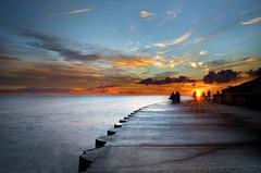 Sun Worshipers (Northernstar28**) Tags: morning sky people sun chicago water clouds sunrise dawn downtown lakemichigan awe raysoflight newmorning sungazing formydaughteranastasia stepsoftheplanetarium