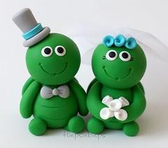 Turtle Wedding Cake Topper (fliepsiebieps_) Tags: wedding animal cake handmade turtle figurines turtles clay custom toppers topper caketoppers turtlecaketopper fliepsiebieps