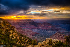 Grand Canyon (ErikN86) Tags: sunset arizona sun mountains tree phoenix clouds landscape us grandcanyon sony canyon hdr gc sonydslr