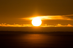 Above the horizon (jarnasen) Tags: sky orange sun sunlight lake cold ice nature clouds sunrise landscape dawn frozen haze nikon bright sweden outdoor tripod sverige scandinavia tamron telezoom stergtland mirrorlockup roxen lakescape d7100 sunhaze nordiclandscape 150600mm tamronsp150600mm jarnasen