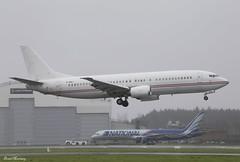 Fly Baghdad 737-400 YI-BAJ (birrlad) Tags: ireland wet rain weather airplane fly airport wind landing shannon return baghdad boeing approach runway 737 b737 737400 snn b734 lessor 737405 yibaj