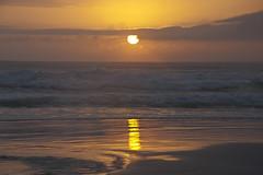 Amanecer en Mariscal - Bombinhas - SC - Brasil (Francisco Davids) Tags: ocean sea brazil sky sun water brasil sunrise reflections landscape outdoors coast reflex agua nikon d70s amanecer amateur reflejos exquisiteimage