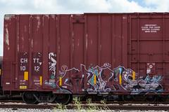 (o texano) Tags: bench graffiti wake texas houston trains freights rtd a2m benching adikts